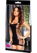 Pop `n Lock Mini Dress-black