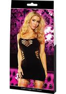 Cash Cage Mini Dress-black