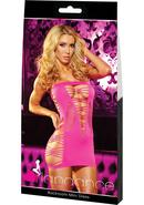 Backroom Mini Dress-pink