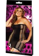 Naughty Girl Mini Dress-black-plus
