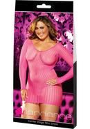 Center Stage Mini Dress - Pink-plus