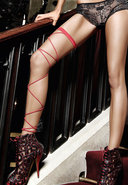 Red Wrap Around Leg Garter (disc)