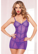 Pretty In Purple Chemise And Thong-pur-os