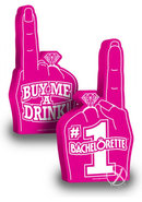Number 1 Bachelorette Party Foam Finger Pink