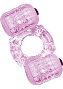 Hero Double Pleaser Teaser Vibrating Cock Ring - Purple