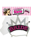 Bride To Be Party Tiara Silver And Pink And Black