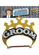 Groom To Be Celebration Crown Gold And Black And Silver