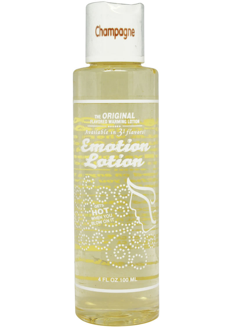 Emotion Lotion Water Based Flavored Warming Lubricant - Champagne 4oz