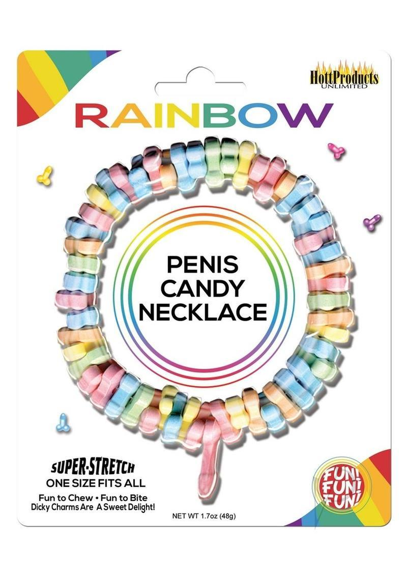 Dicky Charms Multi Flavored Penis Shaped Candy In A Super Stretch Necklace