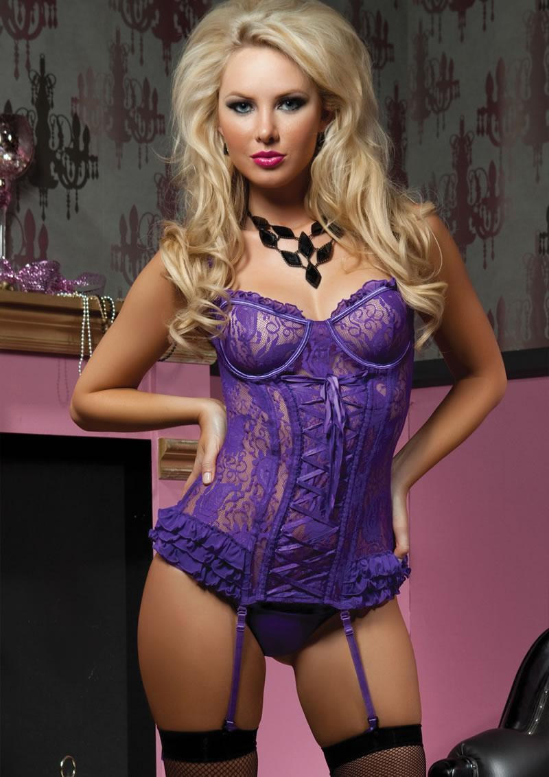 Paisley Pleasure 2pc Bustier-purple-med