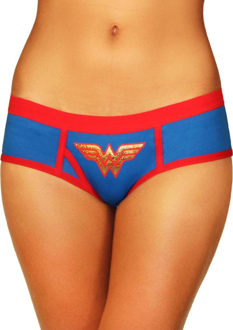 Wonderwoman Boyshort W/foil Logo-medium