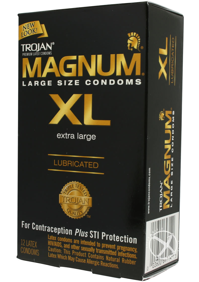 Trojan Condom Magnum Extra Large Lubricated 12 Pack