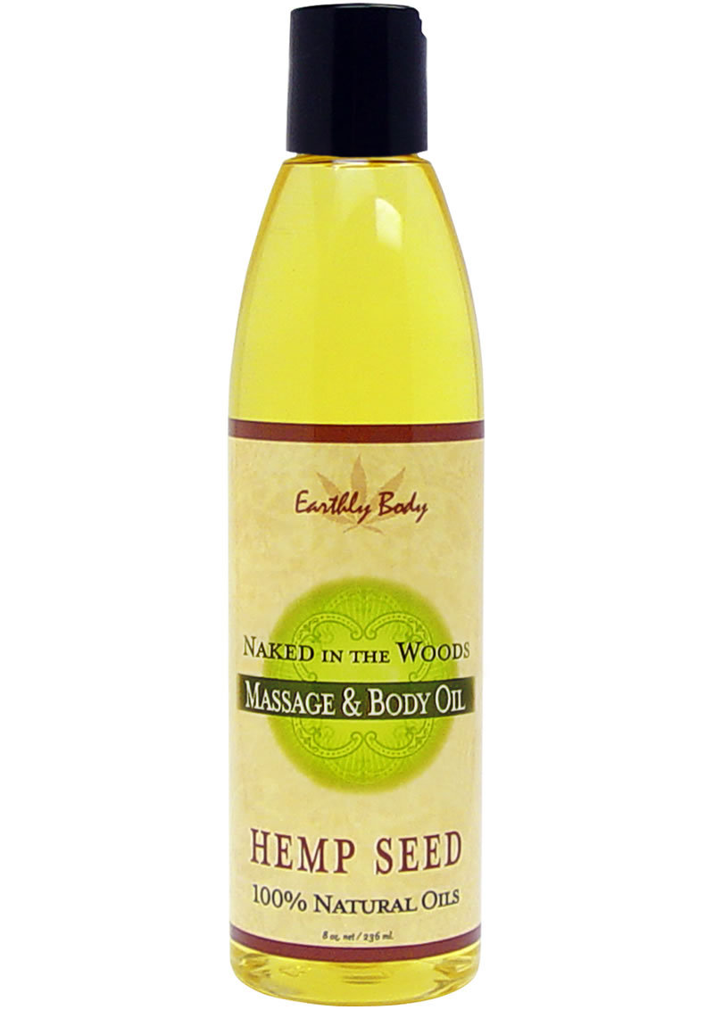 Massage And Body Oil With Hemp Seed Naked In The Woods 8 Ounce