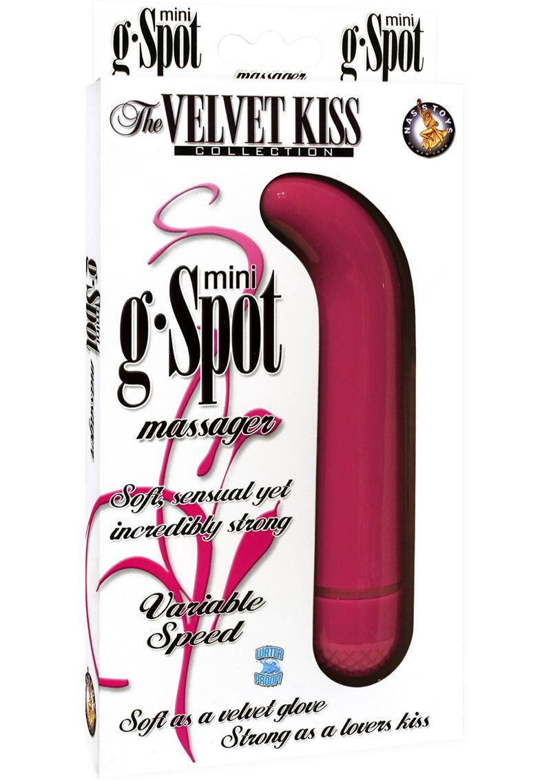 The Velvet Kiss Collection Mini G-spot Massager Vibrator - Pink