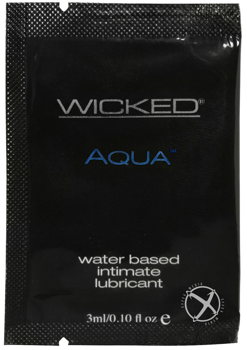 Wicked Aqua Water Based Lubricant Fragrance Free .10oz (144 Per Bag)