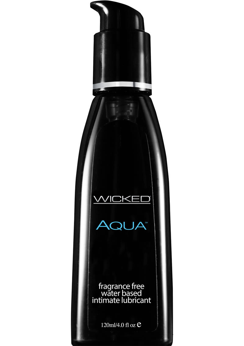 Wicked Aqua Water Based Lubricant Fragrance Free 4oz