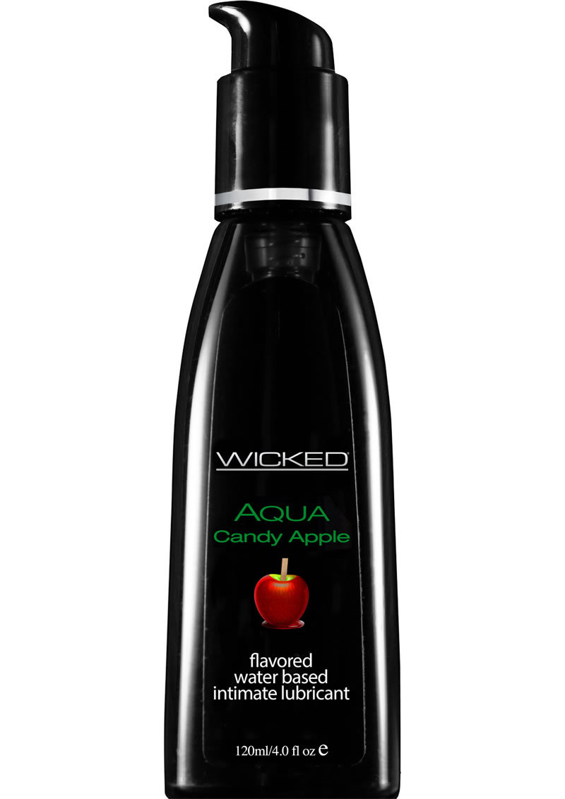 Wicked Aqua Water Based Flavored Lubricant Candy Apple 4oz