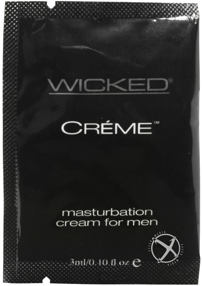 Wicked Creme Masturbation Cream For Men Foil Packs 144 Per Bag