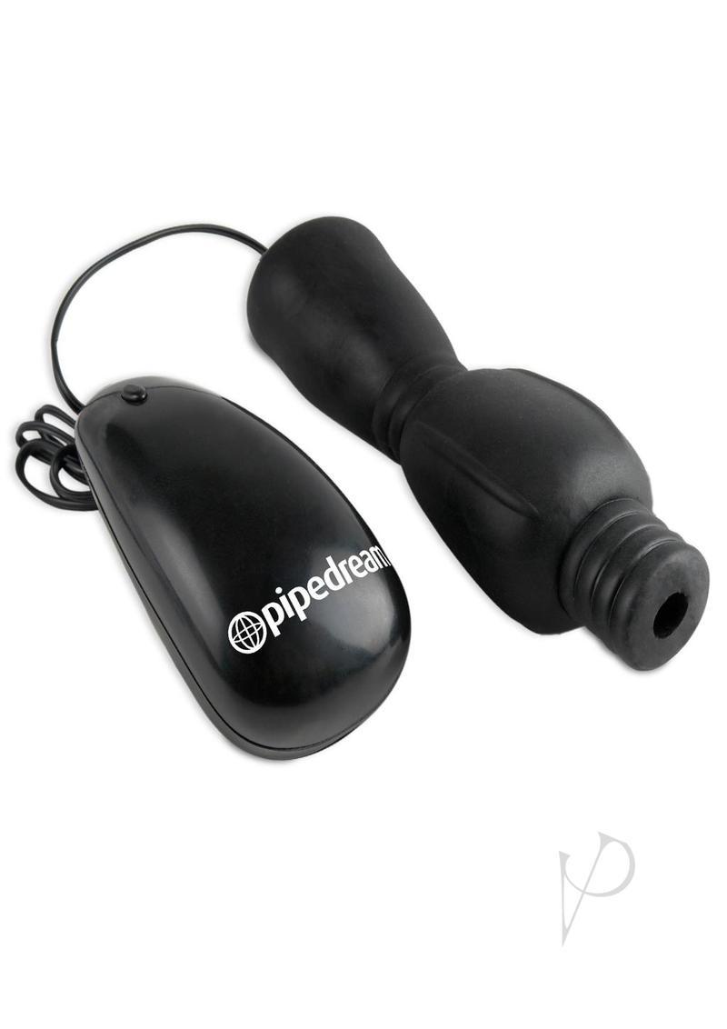 Fetish Fantasy Series Vibrating Head Teazer Sleeve With Bullet And Remote Control - Black