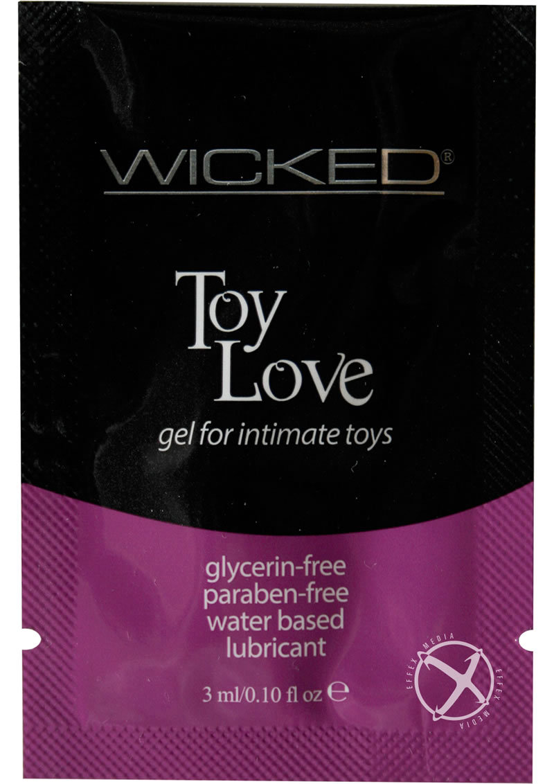 Wicked Toy Love Gel Foil Packs .10oz (144 Per Bag)