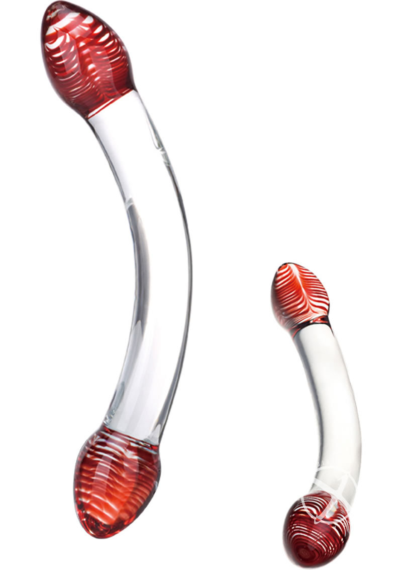 Glas Red Head Double Dildo