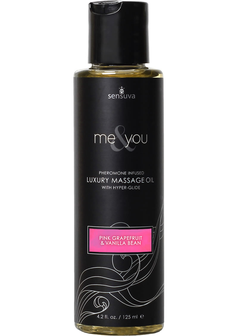 Me And You Pheromone Infused Luxury Massage Oil Pink Grapefruit Vanilla Bean 4.2oz
