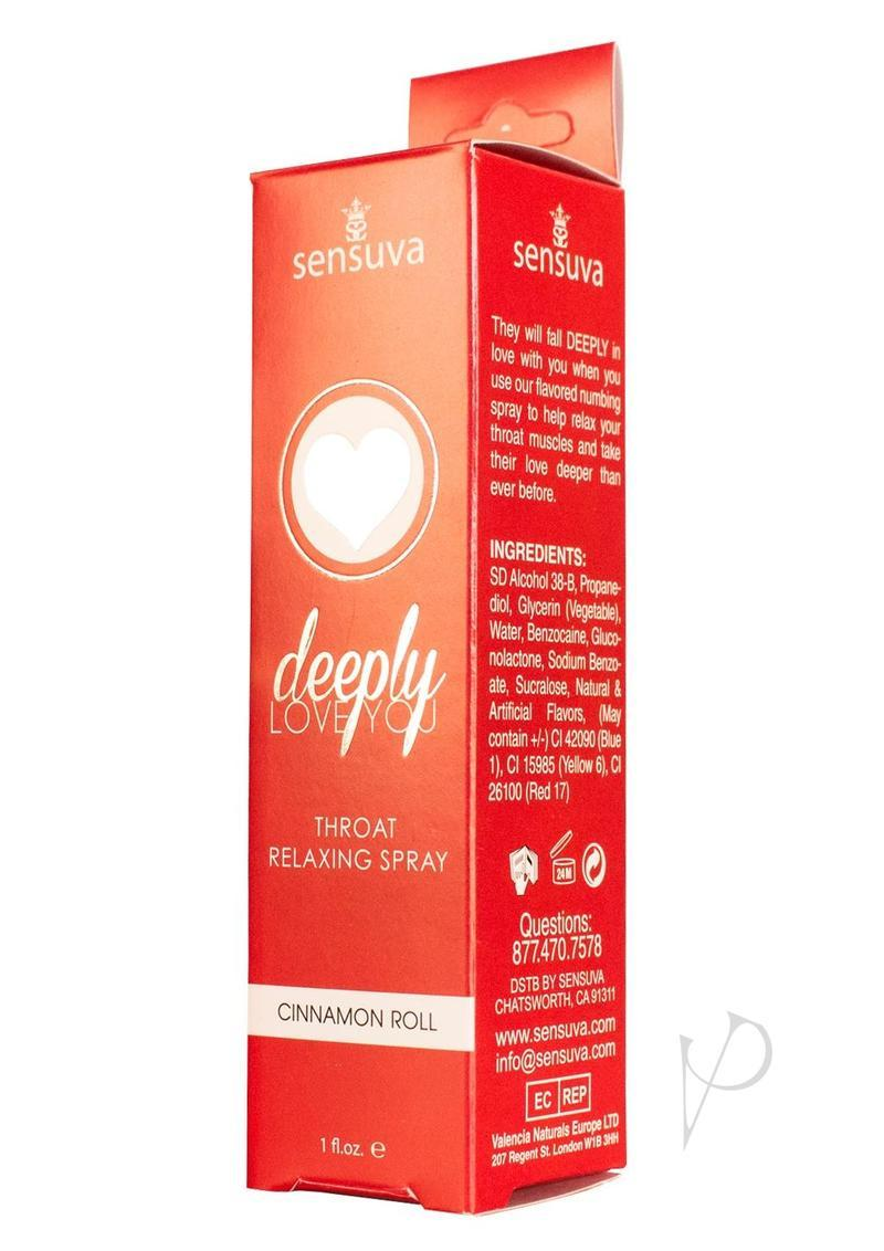 Deeply Love You Throat Relaxing Spray Cinnamon 1oz Spray