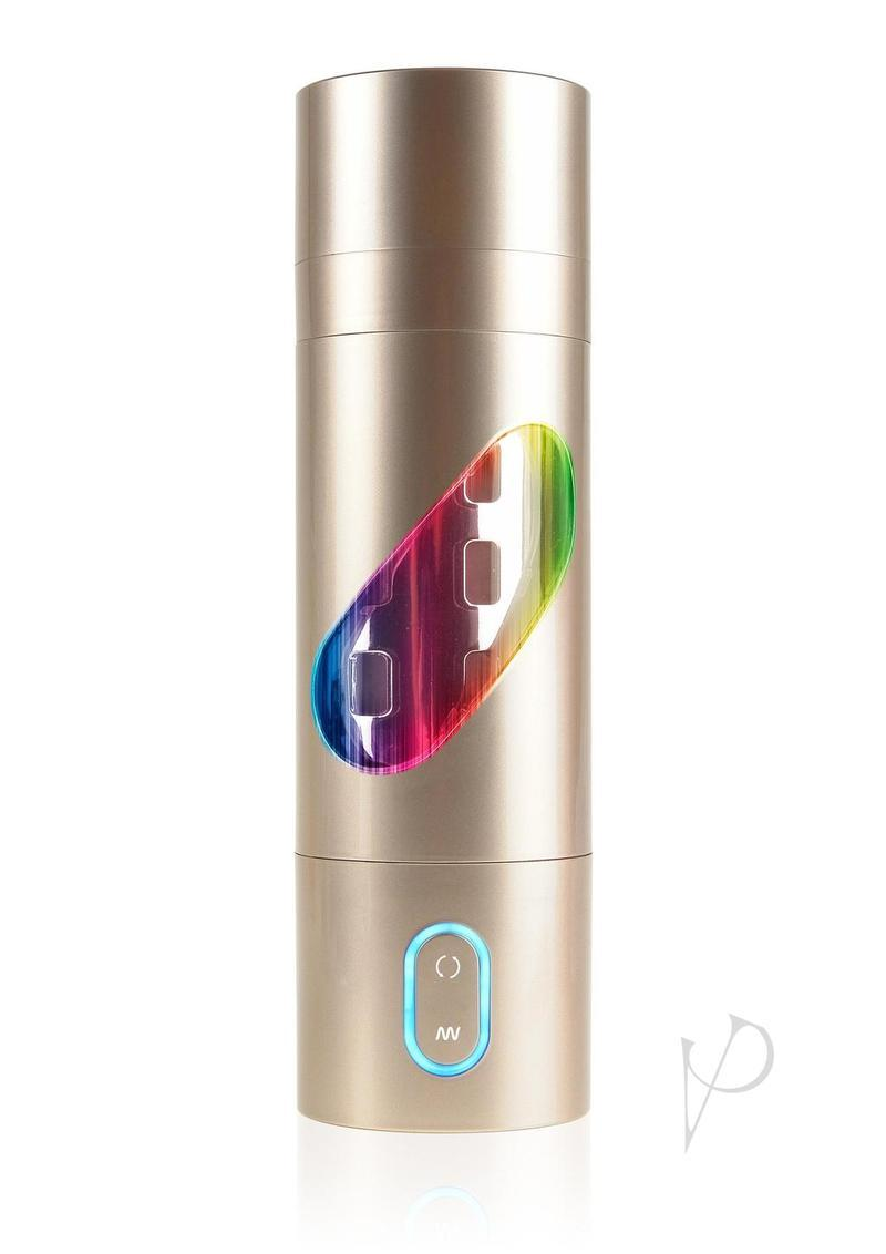 Pipedream Extreme Toyz Rechargeable Roto-bator Ass Masturbator - Butt - Gold/clear/multi
