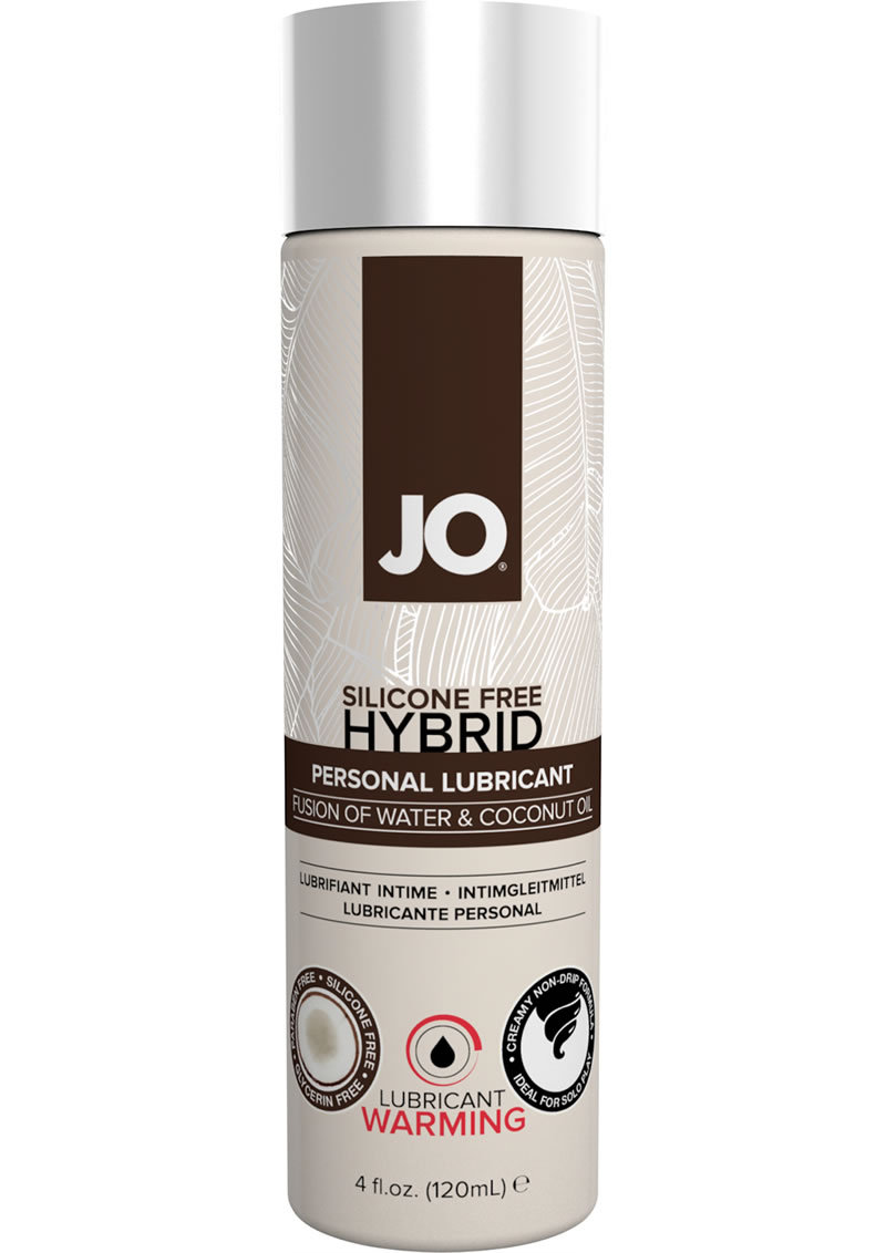 Silicone Free Hybrid Personal Warm Lubricant Water And Coconut Oil 4 Ounce