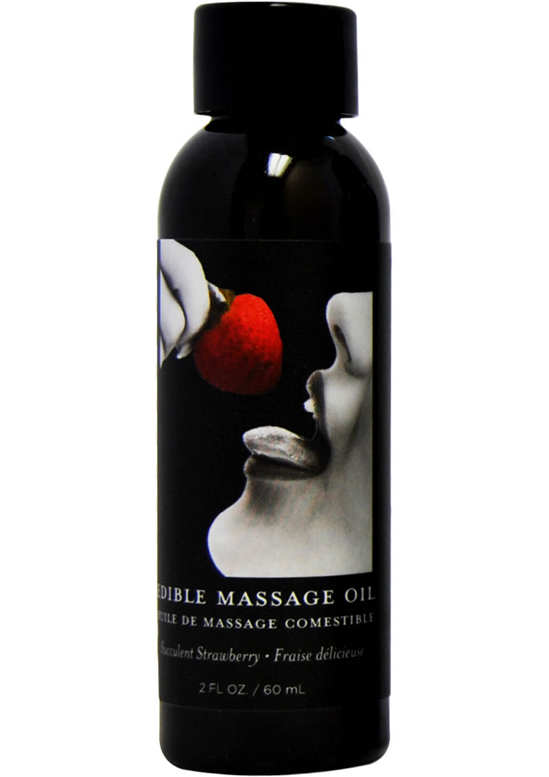 Earthly Body Earthly Body Edible Massage Oil Succulent Strawberry 2oz