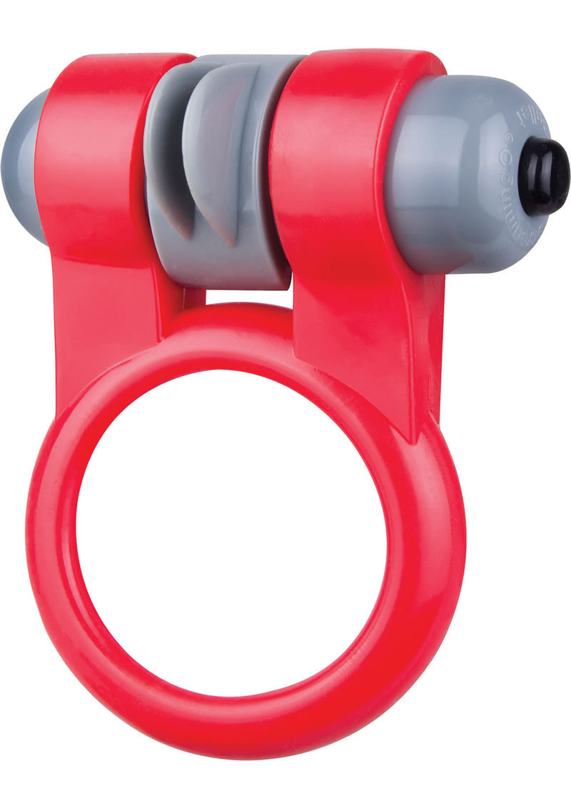 Sport Vibrating Cockring Waterproof Red 6 Each Per Box