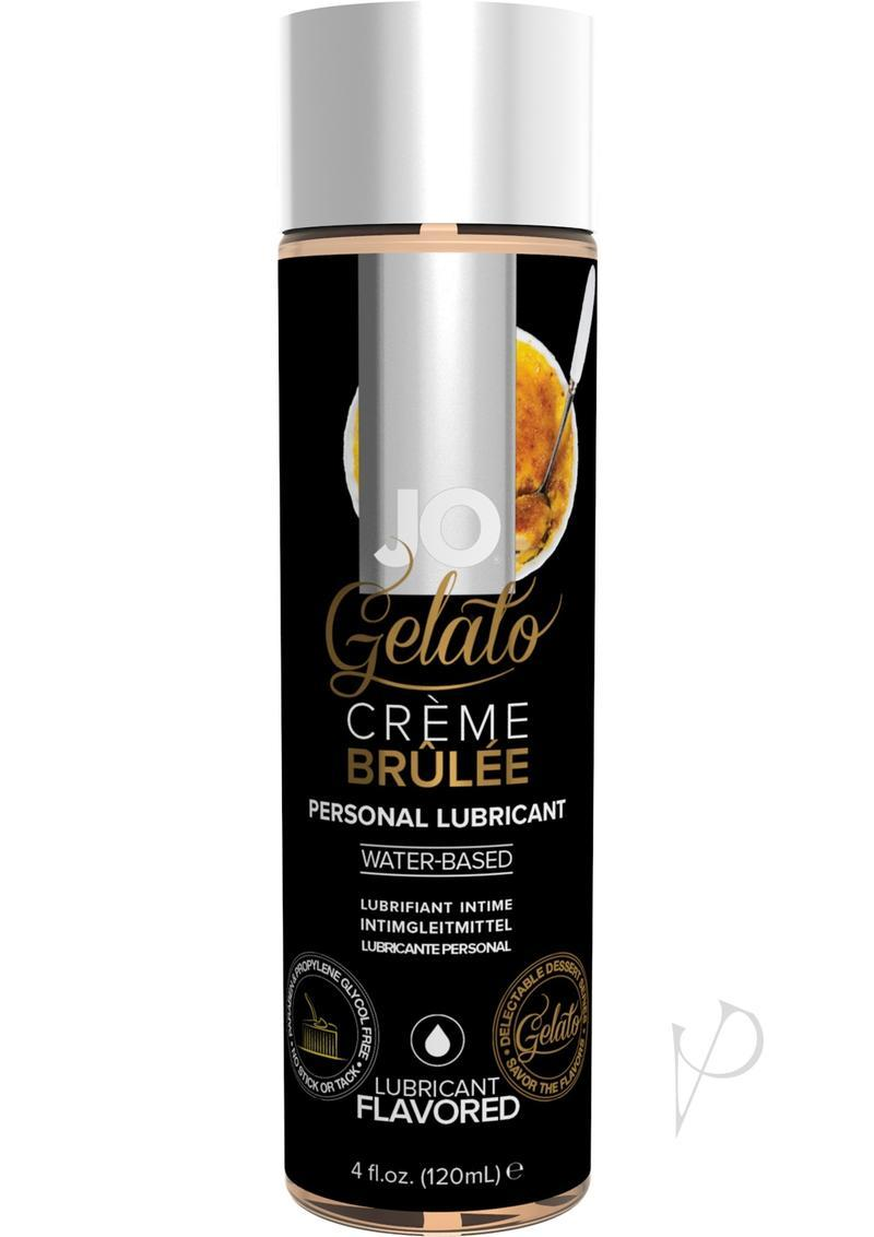 Jo Gelato Water Based Flavored Lubricant Creme Brulee 4oz
