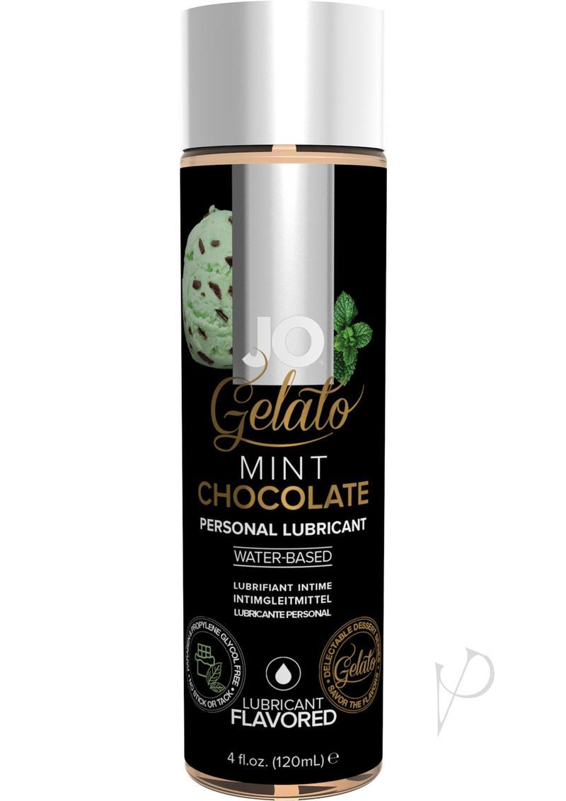 Jo Gelato Water Based Flavored Lubricant Mint Chocolate 4oz