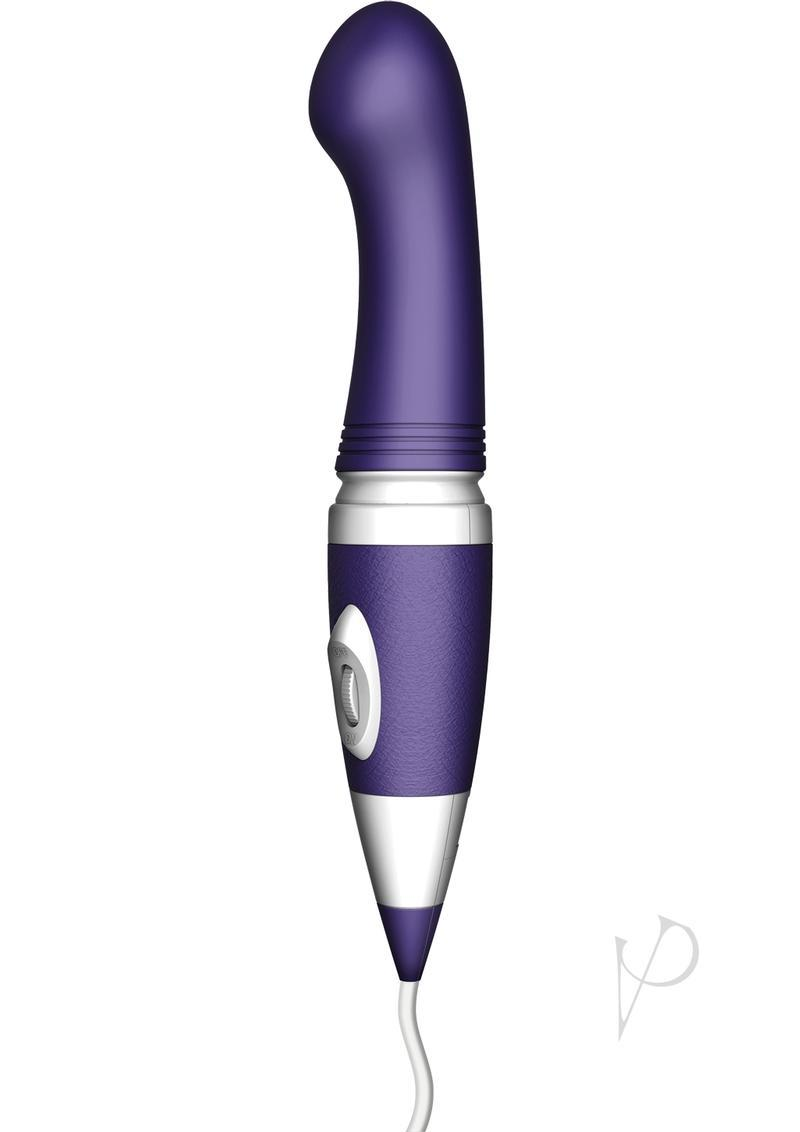Bodywand Plus G Spot 8 Silicone Plug-in Wand Massager - Purple