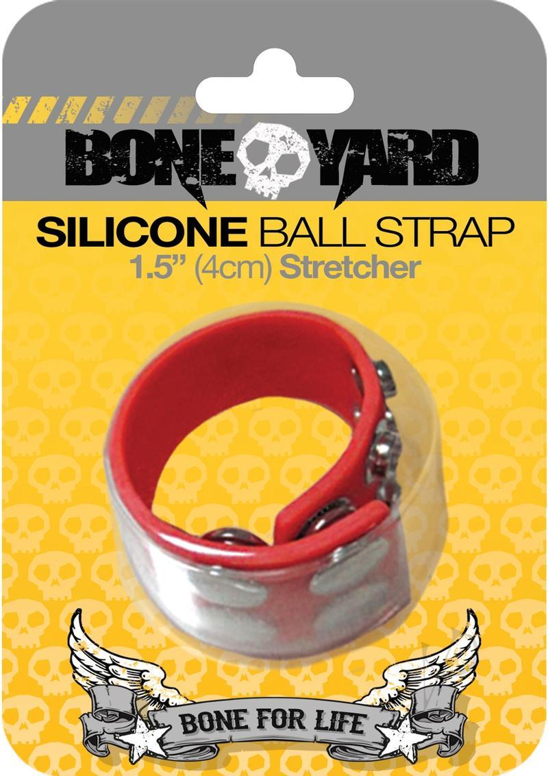 Boneyard Silicone Ball Strap 1.5in Stretcher - Red