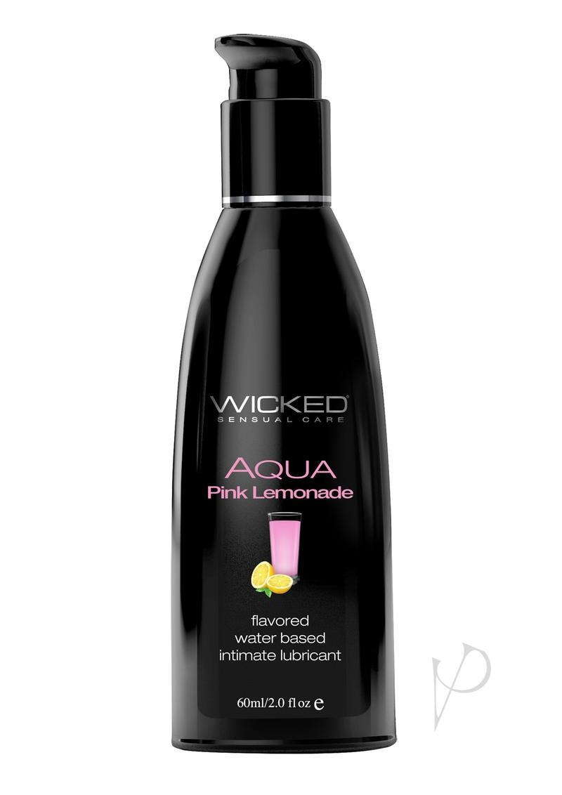 Wicked Aqua Flavored Water Based Lubricant Pink Lemonade 2 Ounce