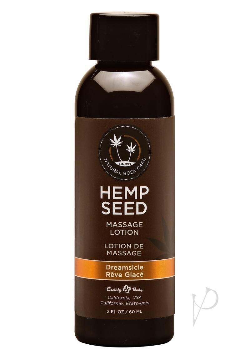 Earthly Body Hemp Seed Massage Lotion Dreamsicle 2oz