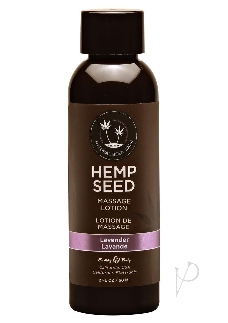 Earthly Body Hemp Seed Massage Lotion Lavender 2oz