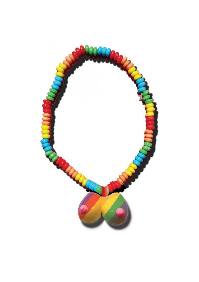 Rainbow Boobie Candy Necklace