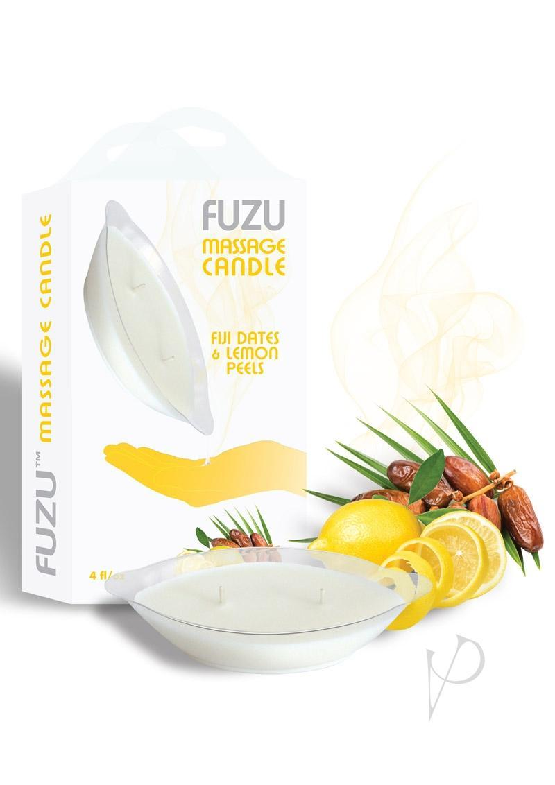 Fuzu Massage Candle Fiji Dates And Lemon Peels 4oz