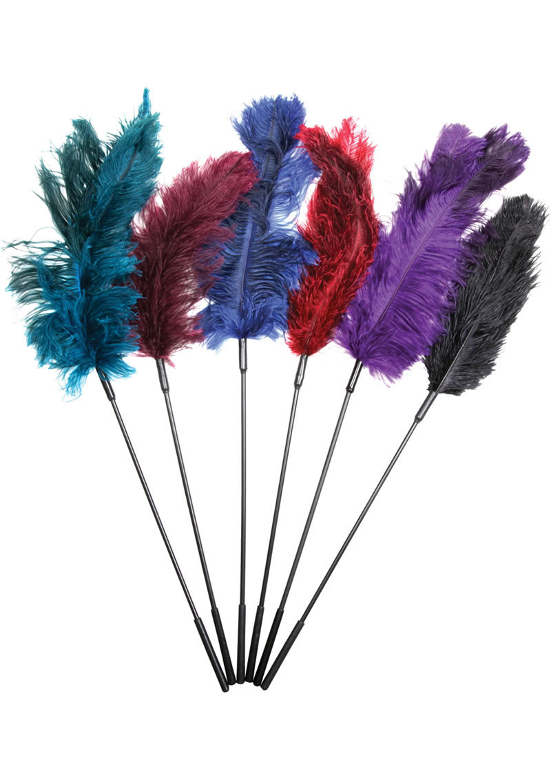 Fantasy Tickler Ostrich Feather Tickler Combo Assorted Colors