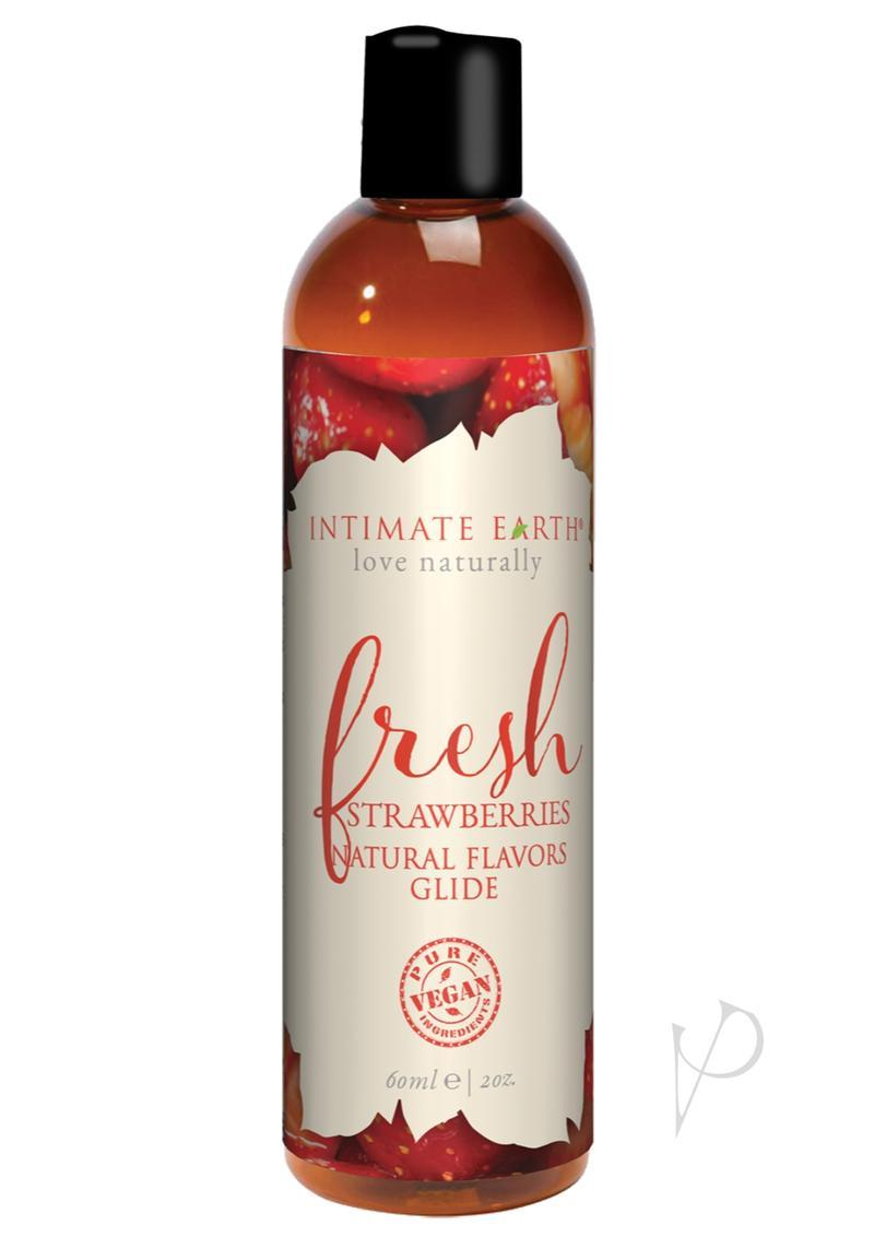 Intimate Earth Natural Flavors Glide Lubricant Fresh Strawberries 2oz