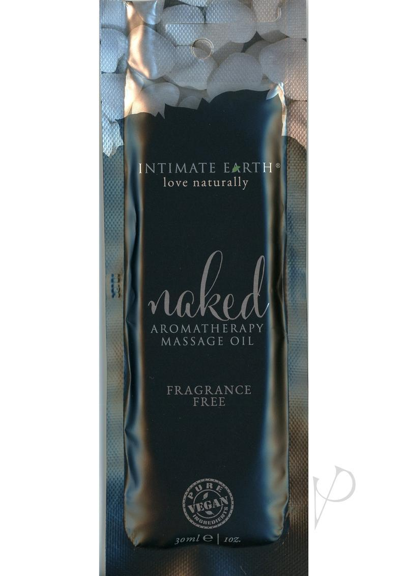 Intimate Earth Naked Aromatherapy Massage Oil Fragrance Free 1oz