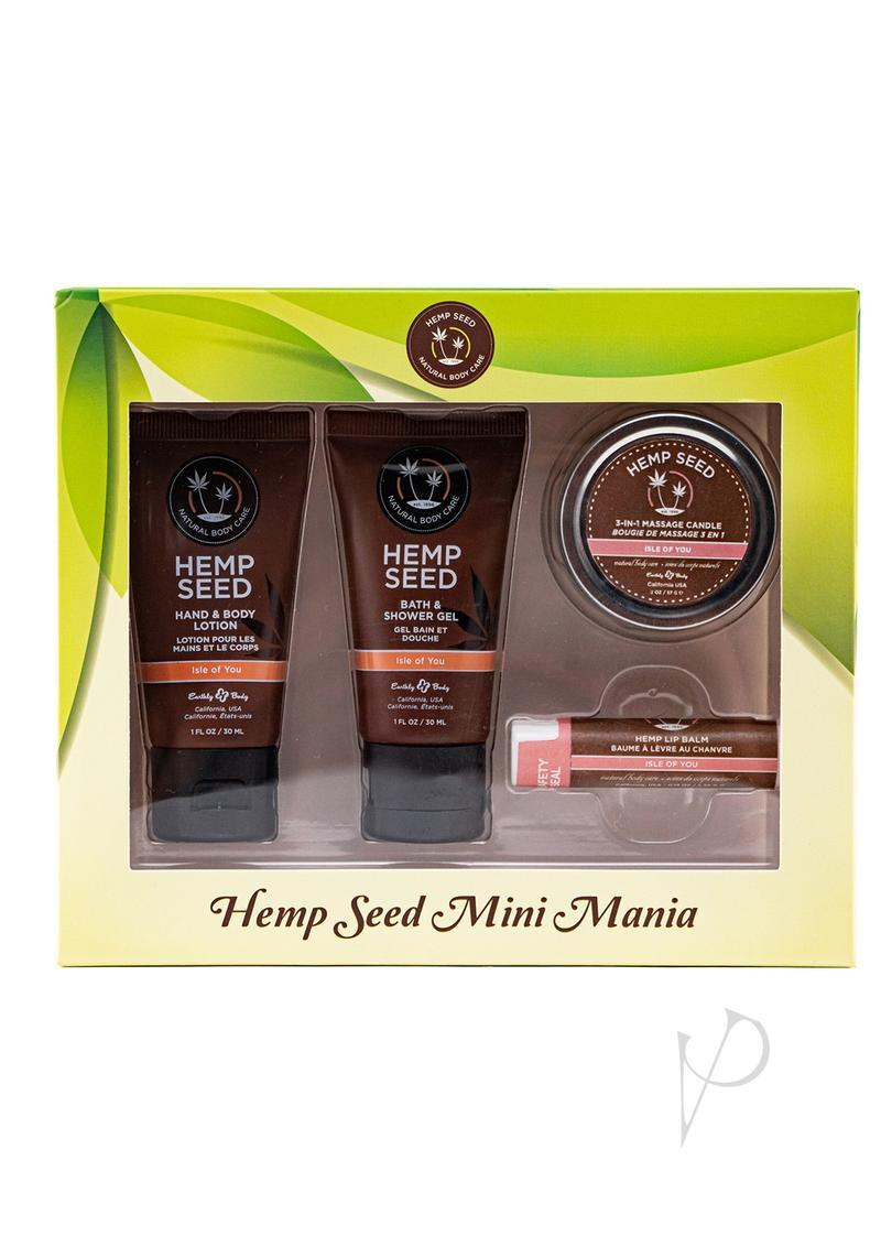 Earthly Body Hemp Seed Mini Mania Travel Bath And Body Set Isle Of You