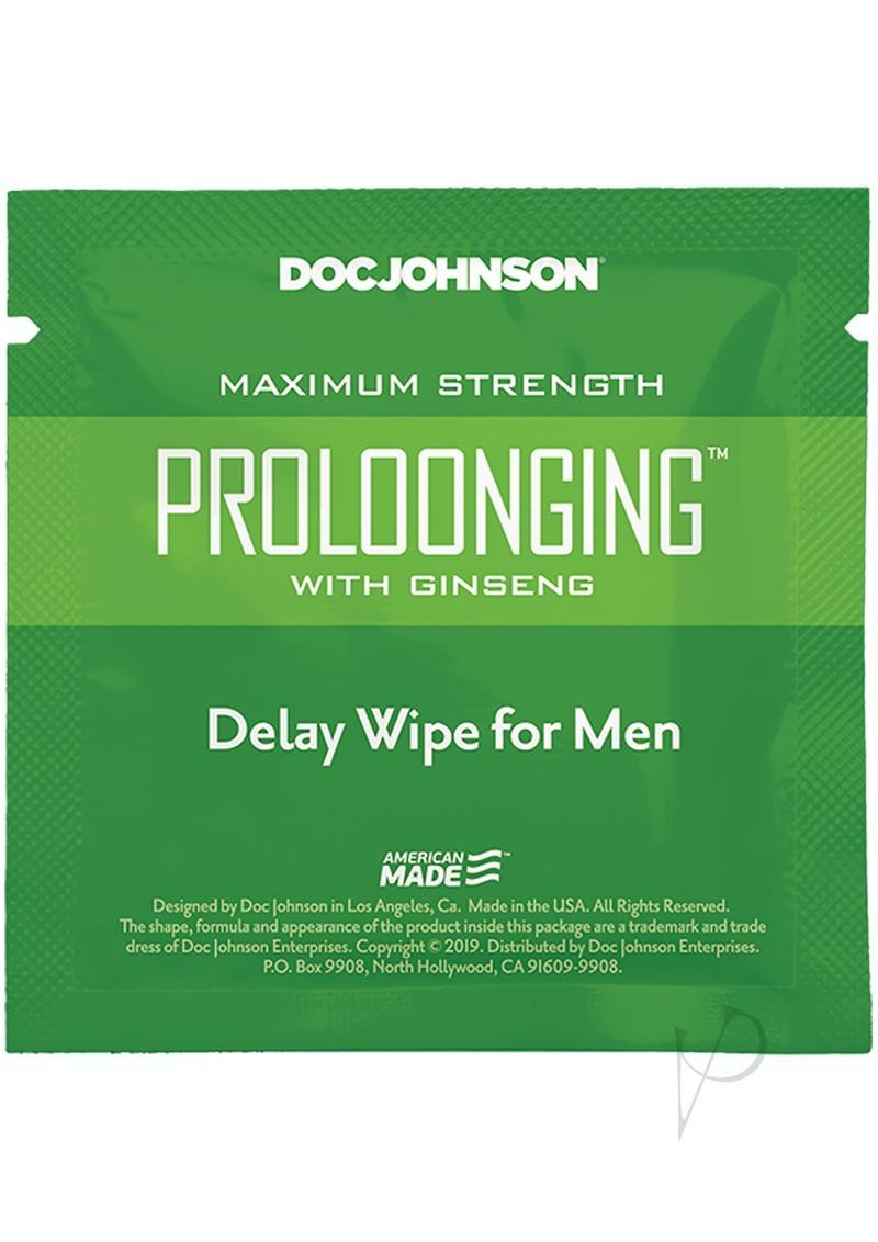 Proloonging With Ginseng Delay Wipes (48 Per Bag)